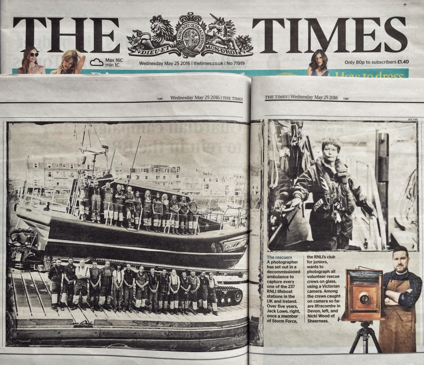 The Lifeboat Station Project by Jack Lowe, The Times newspaper