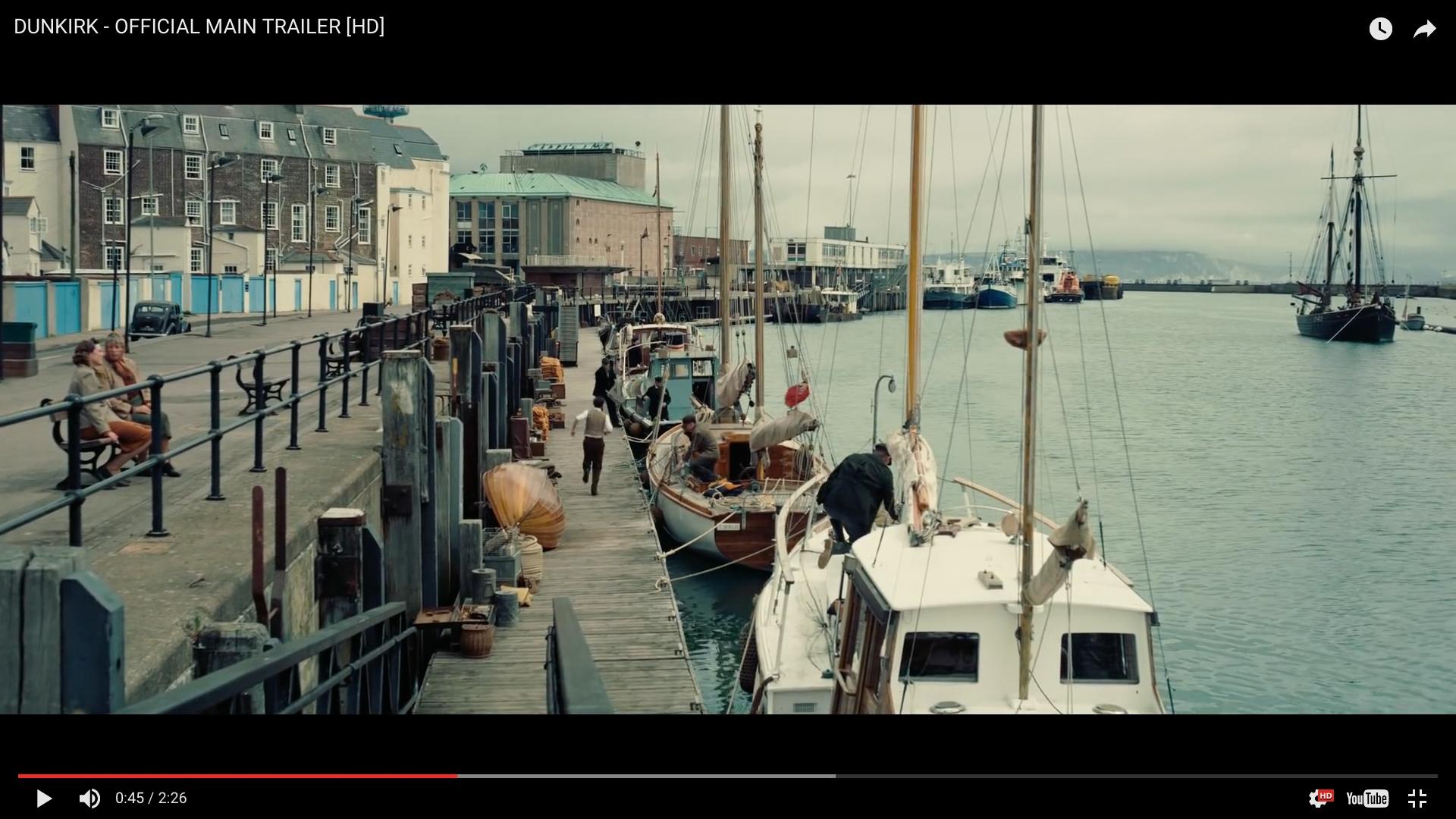 Dunkirk Movie, Christopher Nolan, Weymouth Harbour