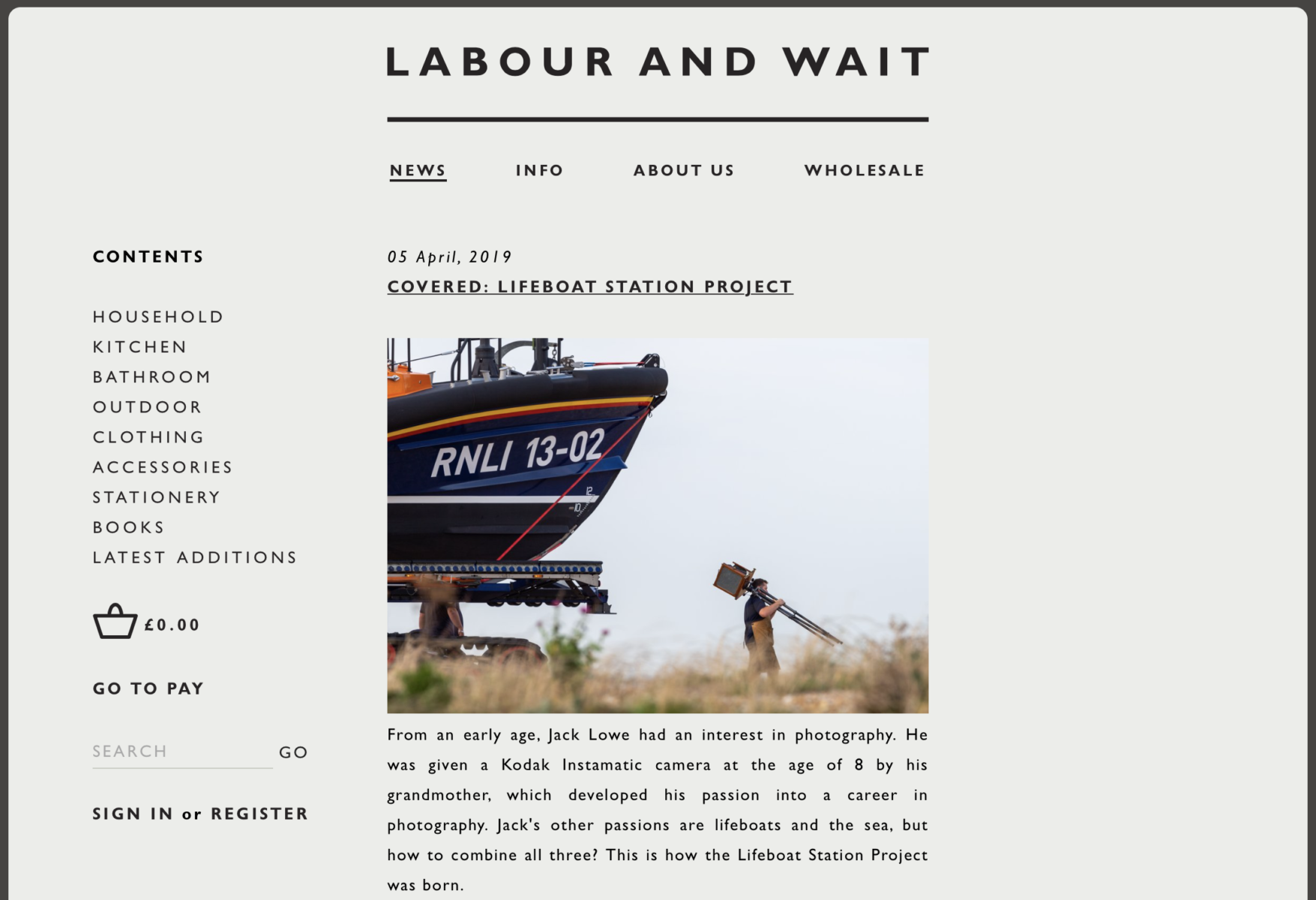 A blog post by Labour and Wait about The Lifeboat Station Project