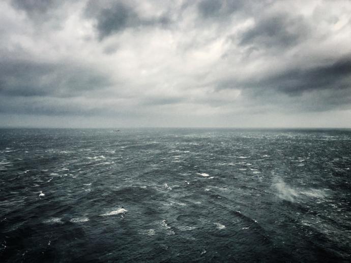 Rough sea off the coast of Northern Ireland