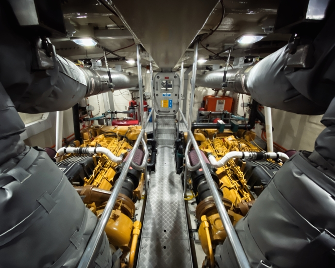 Severn class lifeboat engine room